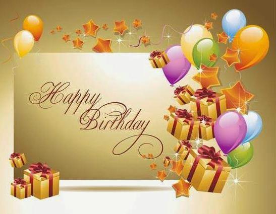 краткое поздравление с днем рождения