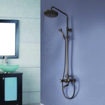 душевая система со сместителем верхний душ