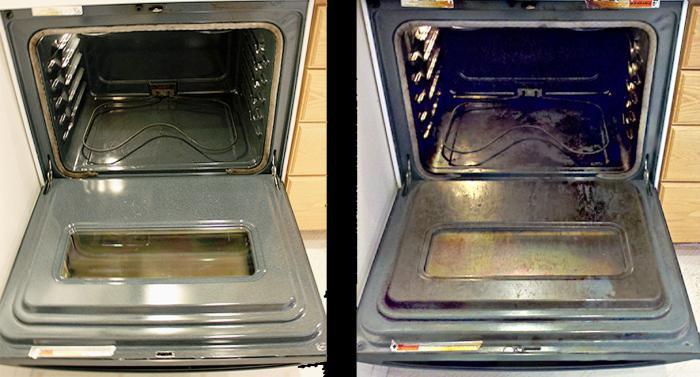 как быстро отмыть духовку от жира