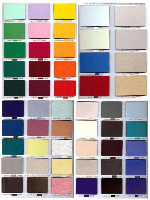 цвета композитных панелей