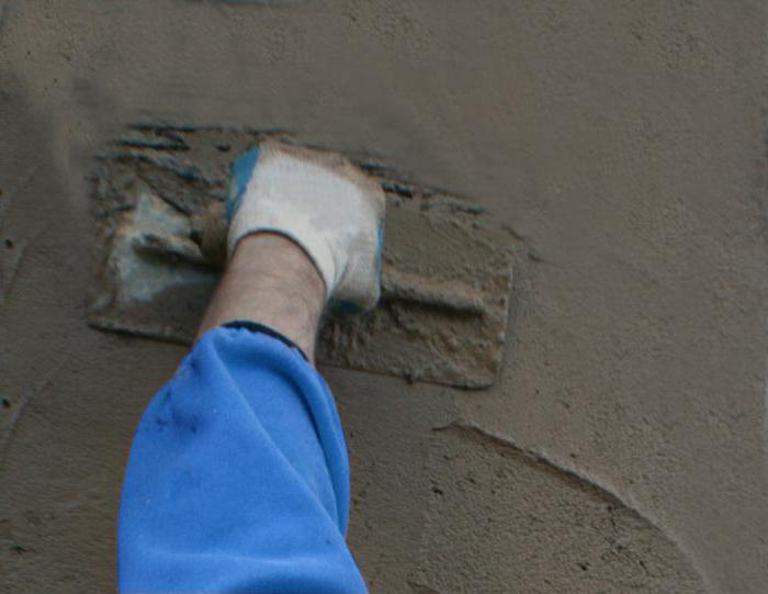 Цементно песчаная смесь для штукатурки