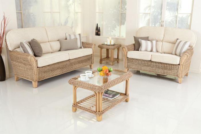 плетеные кресла в интерьере