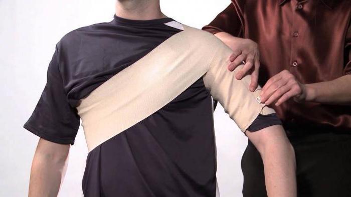 плечевой бандаж косыночный