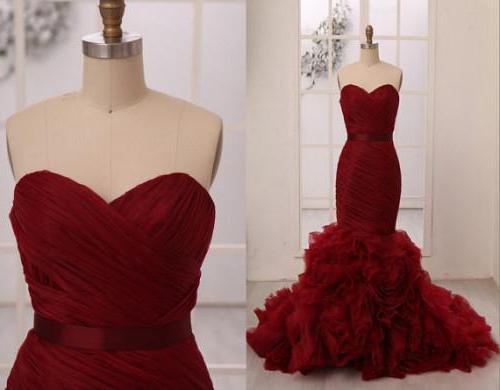 Свадебные платья марсала