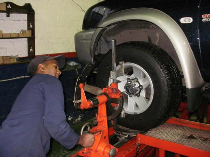 Угол развала передних колес