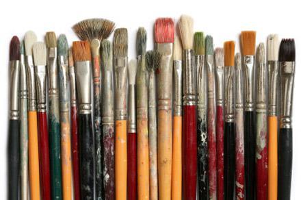 Выбор кисти для рисования гуашью