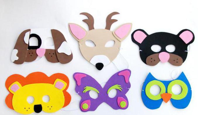 новогодние маски своими руками для детей