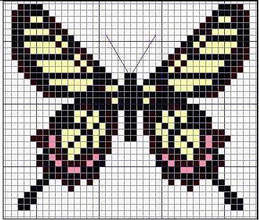 схема бабочки крестом