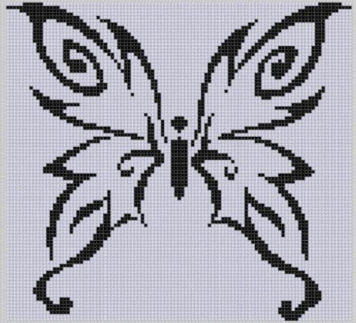 вышивка крестом маленькие схемы бабочки