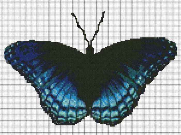 схемы бабочки крестиком