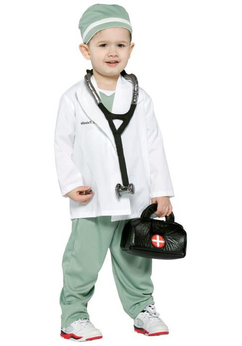 костюм доктора для девочки