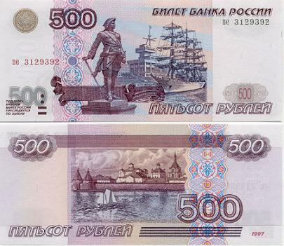 Город на купюре 500 рублей 1 рубль 1892