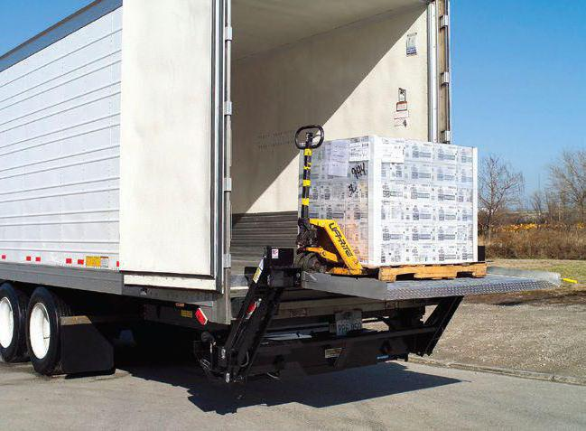 грузовик с гидролифтом