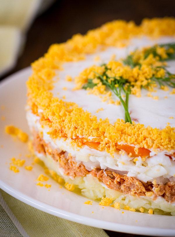 салат мимоза нежный рецепт с фото этому