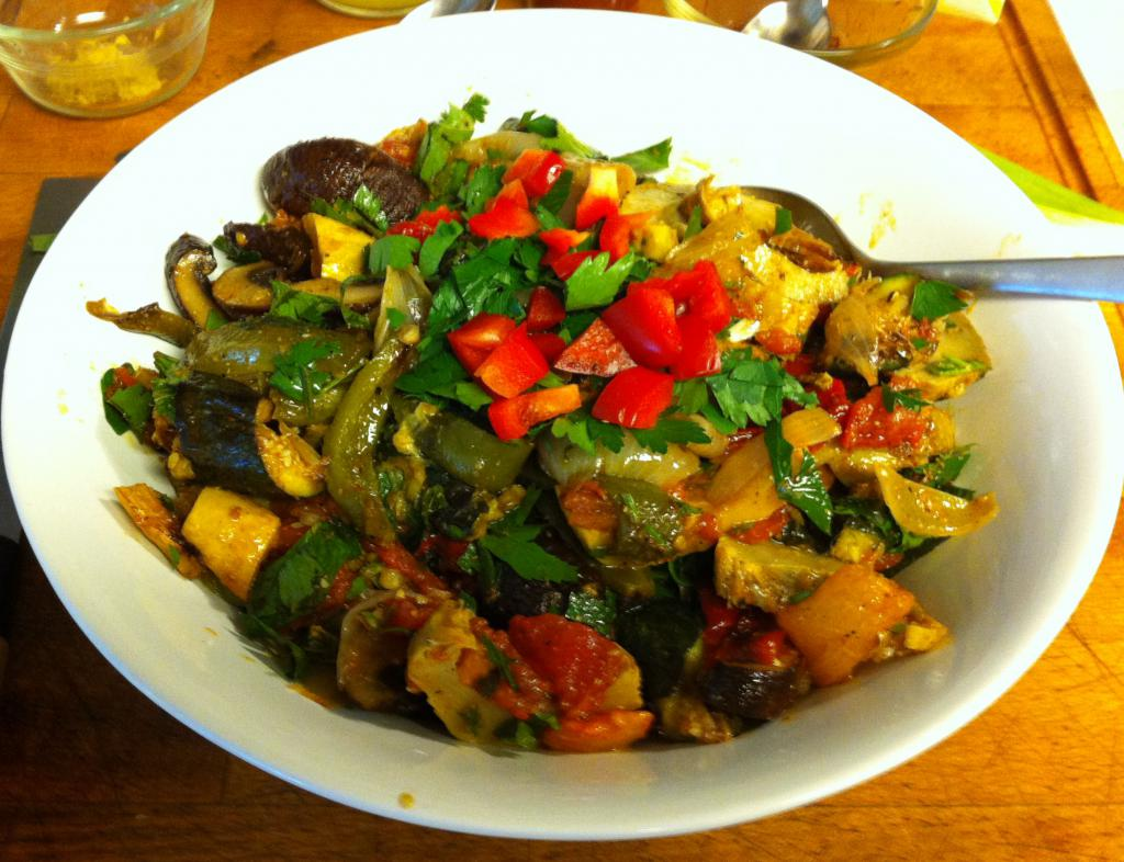 салат из овощей гриль рецепт с фото