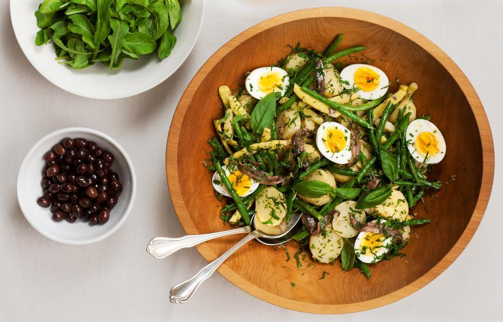 салат стручковая фасоль с яйцом