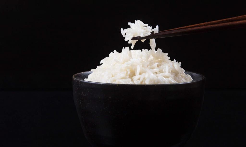 white boiled rice