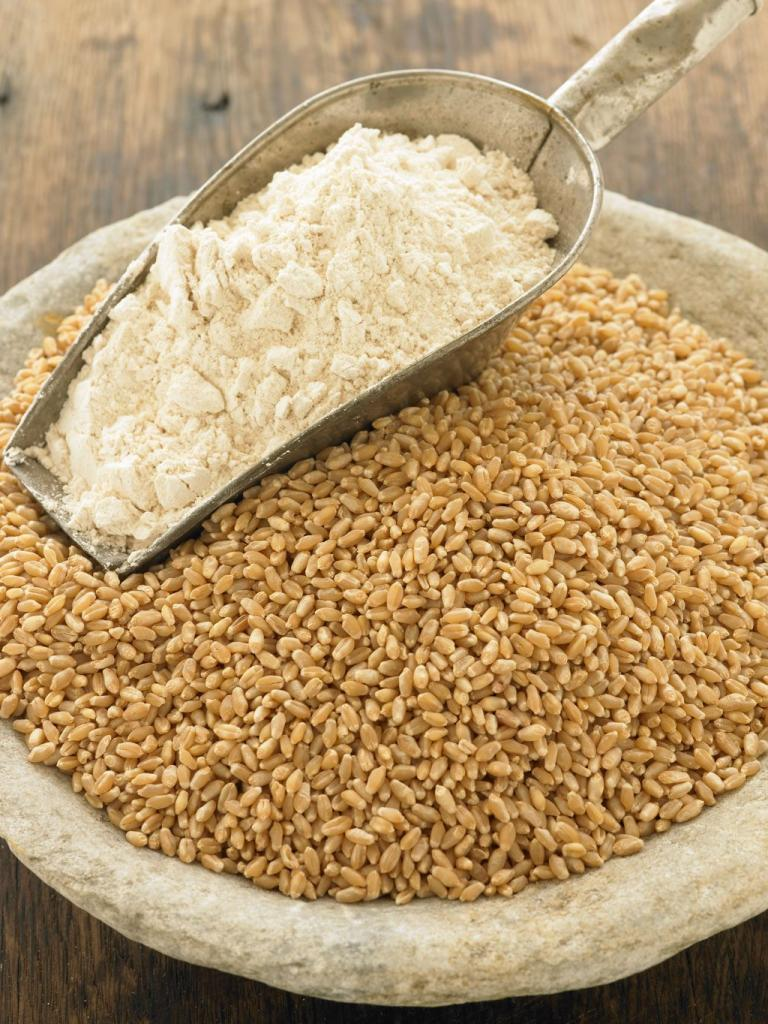 chemical composition of wheat grain