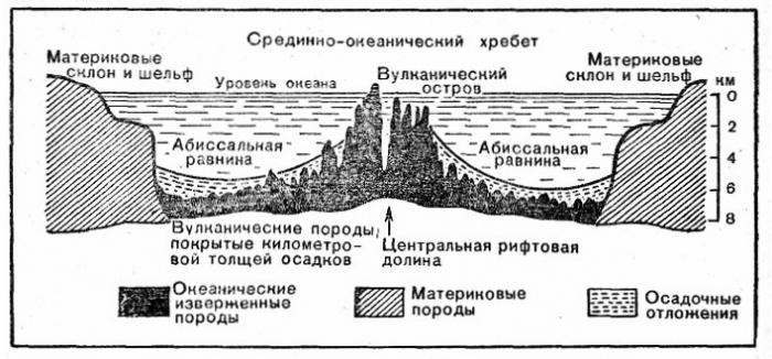 Срединный хребет тектоническая структура
