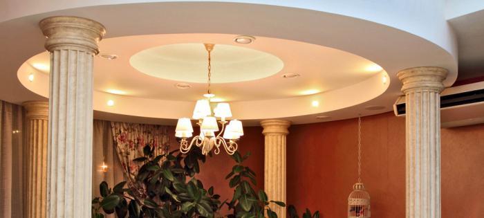оформление и отделка колонн в интерьере квартиры