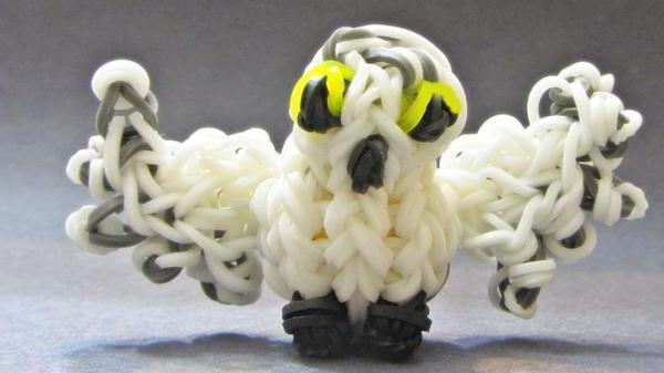 схема плетения совы из резинок