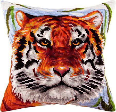 """Схема вышивки крестом """"Тигр"""": символика, значение и особенности выполнения"""