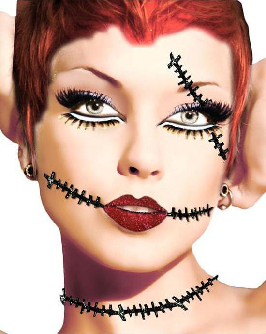 Как сделать шрам на лице на хэллоуин