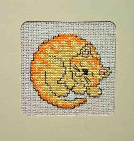 вышивка крестом кот схема