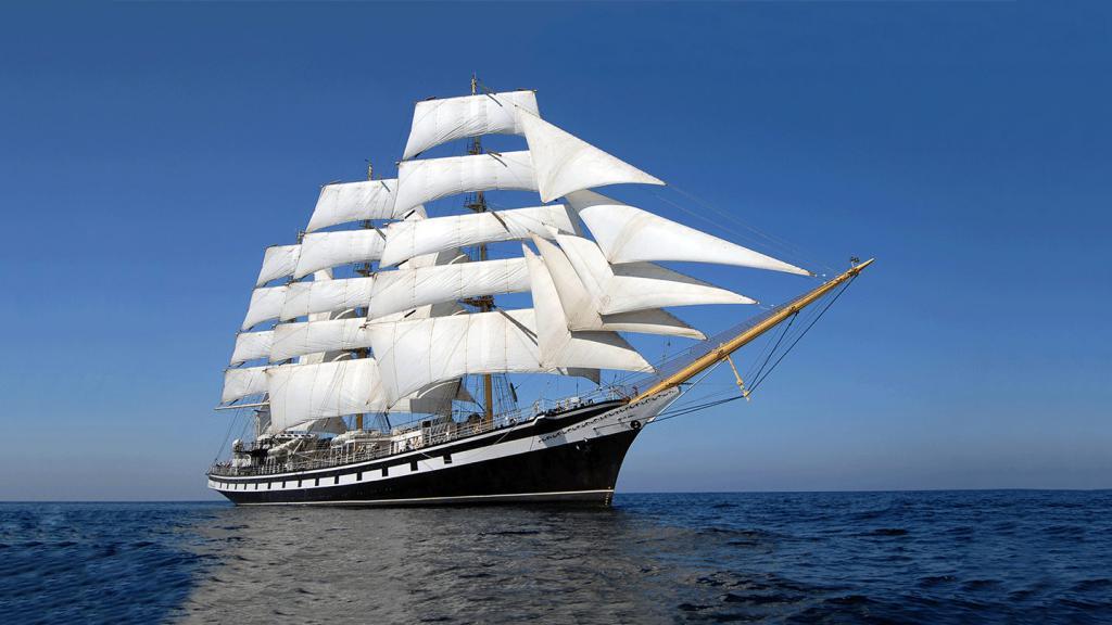 Корабли на парусах с картинки