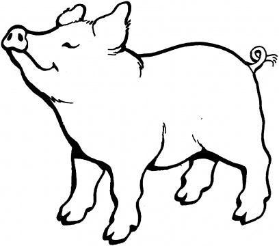 как нарисовать свинью под дубом