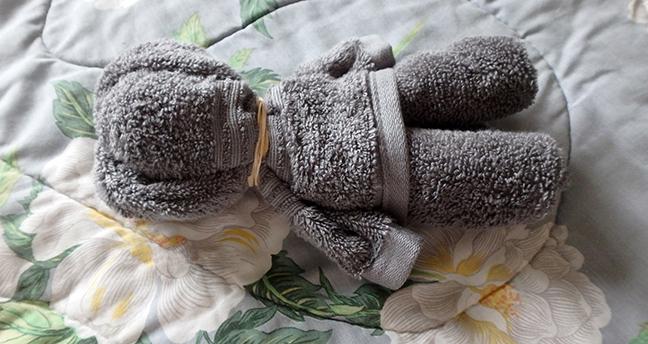 как сделать из полотенца мишку: схема