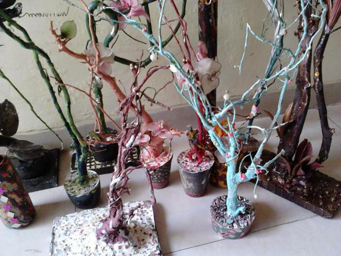 Дерево из цветов своими руками