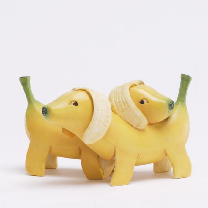 фигурки животных из овощей