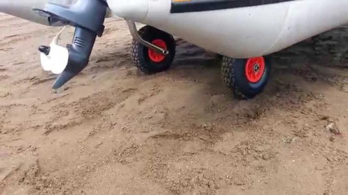 самодельные транцевые колеса для лодок пвх