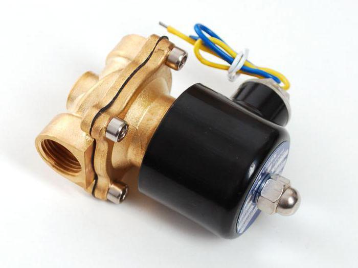 электромагнитный клапан схема