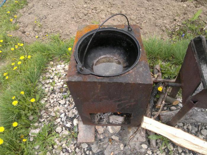 Как сделать металлическую печку для казана