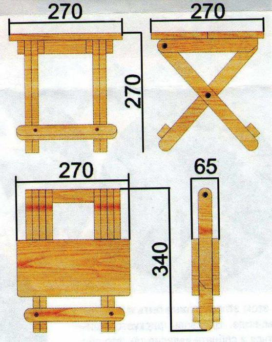 Раскладной деревянный стул своими руками чертежи