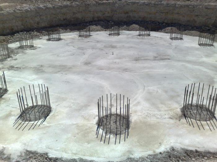 монтаж колонны фундамент