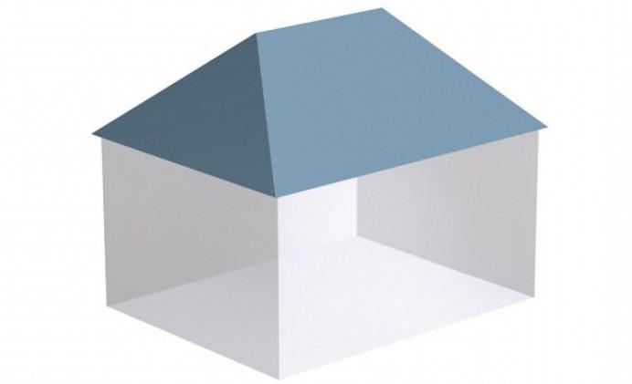 трехскатная крыша пристройке