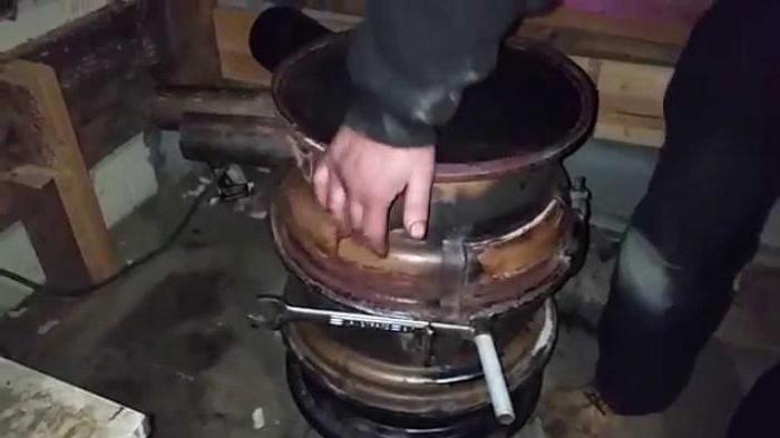 печь из колесных дисков
