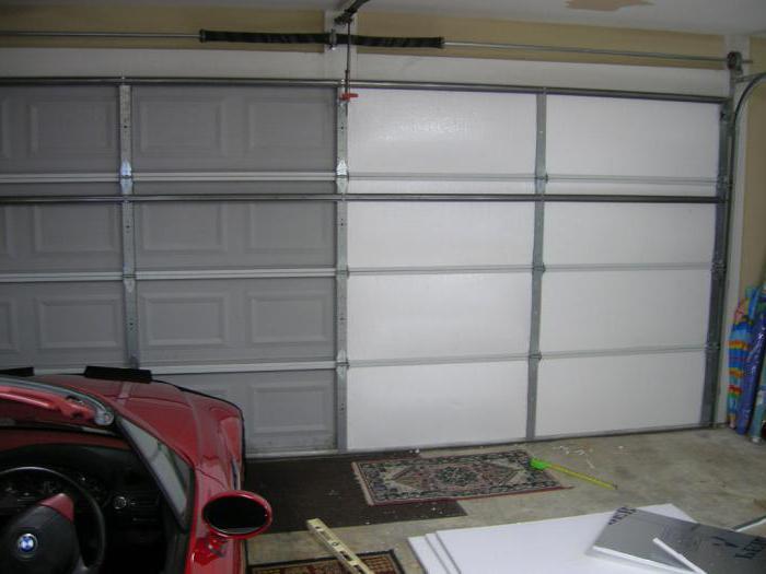 утепление гаражных ворот монтажной пеной