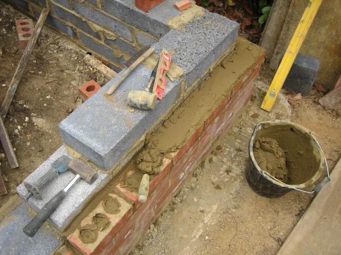 Расход цемента на 1 м2 кладки кирпича