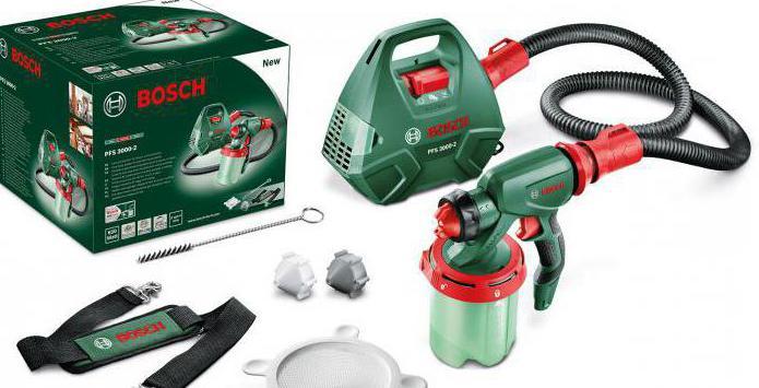 Краскопульт Bosch PFS 3000 2 электрический: обзор, характеристики и отзывы