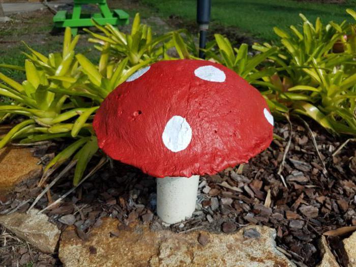 как сделать гриб из гипса своими руками