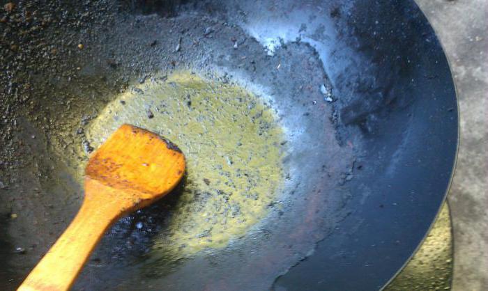 как очистить сковороду от гари