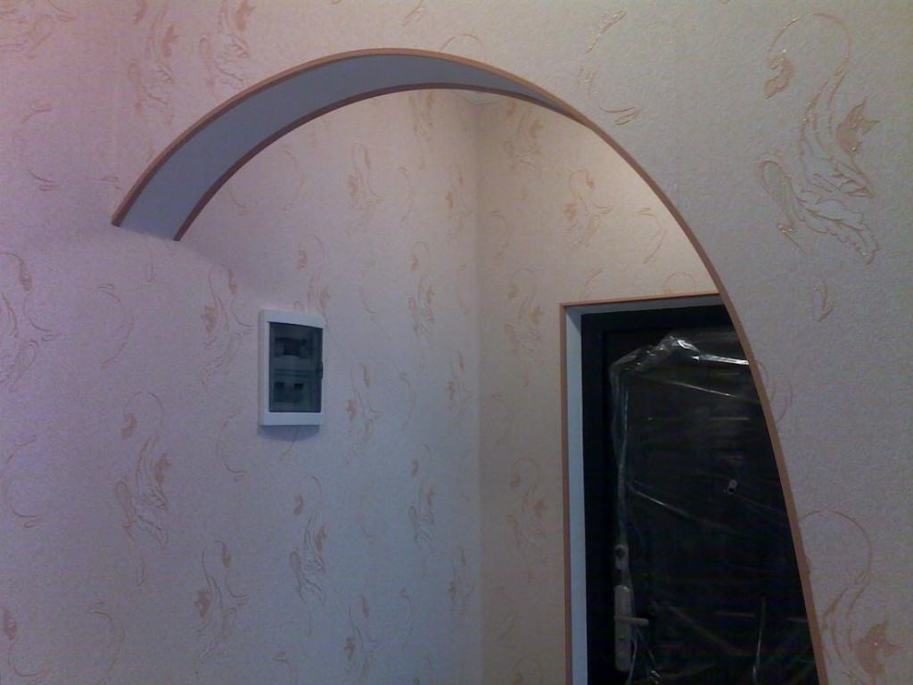 how to make drywall arch