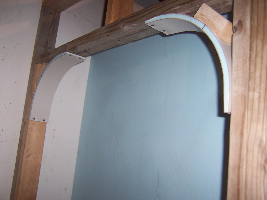 how to make a plasterboard arch yourself