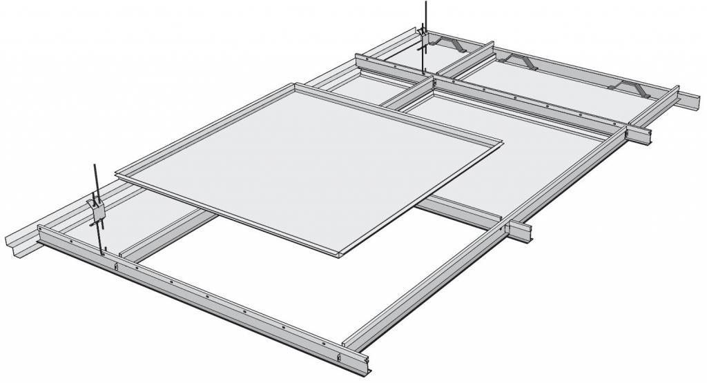 cassette ceiling aluminum white