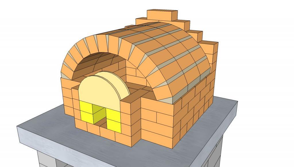 Кладка кирпичных печек: схема, материалы, технология
