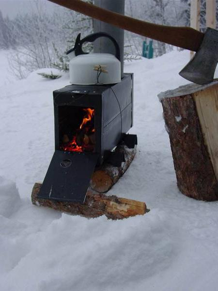 печка на дровах в гараж